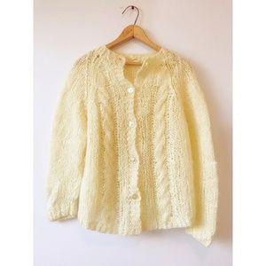 Vintage Italian Lemon Fuzzy Wool Sweater
